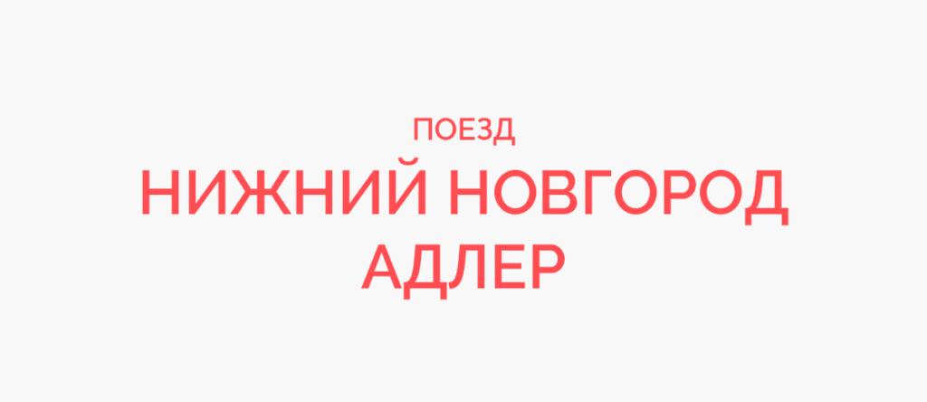 Поезд Нижний Новгород - Адлер