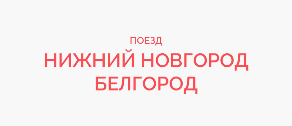 Поезд Нижний Новгород - Белгород