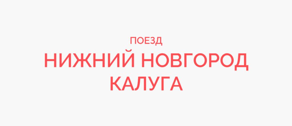 Поезд Нижний Новгород - Калуга
