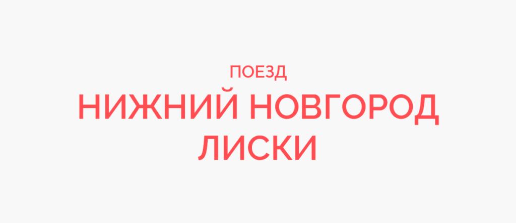 Поезд Нижний Новгород - Лиски