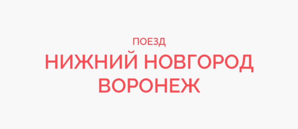 Поезд Нижний Новгород - Воронеж