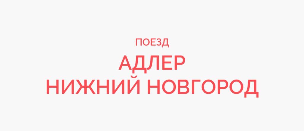 Поезд Адлер - Нижний Новгород