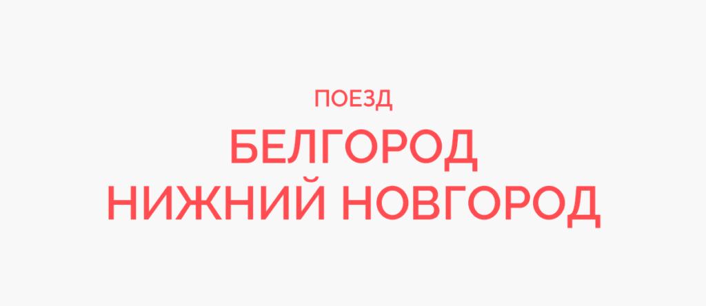 Поезд Белгород - Нижний Новгород